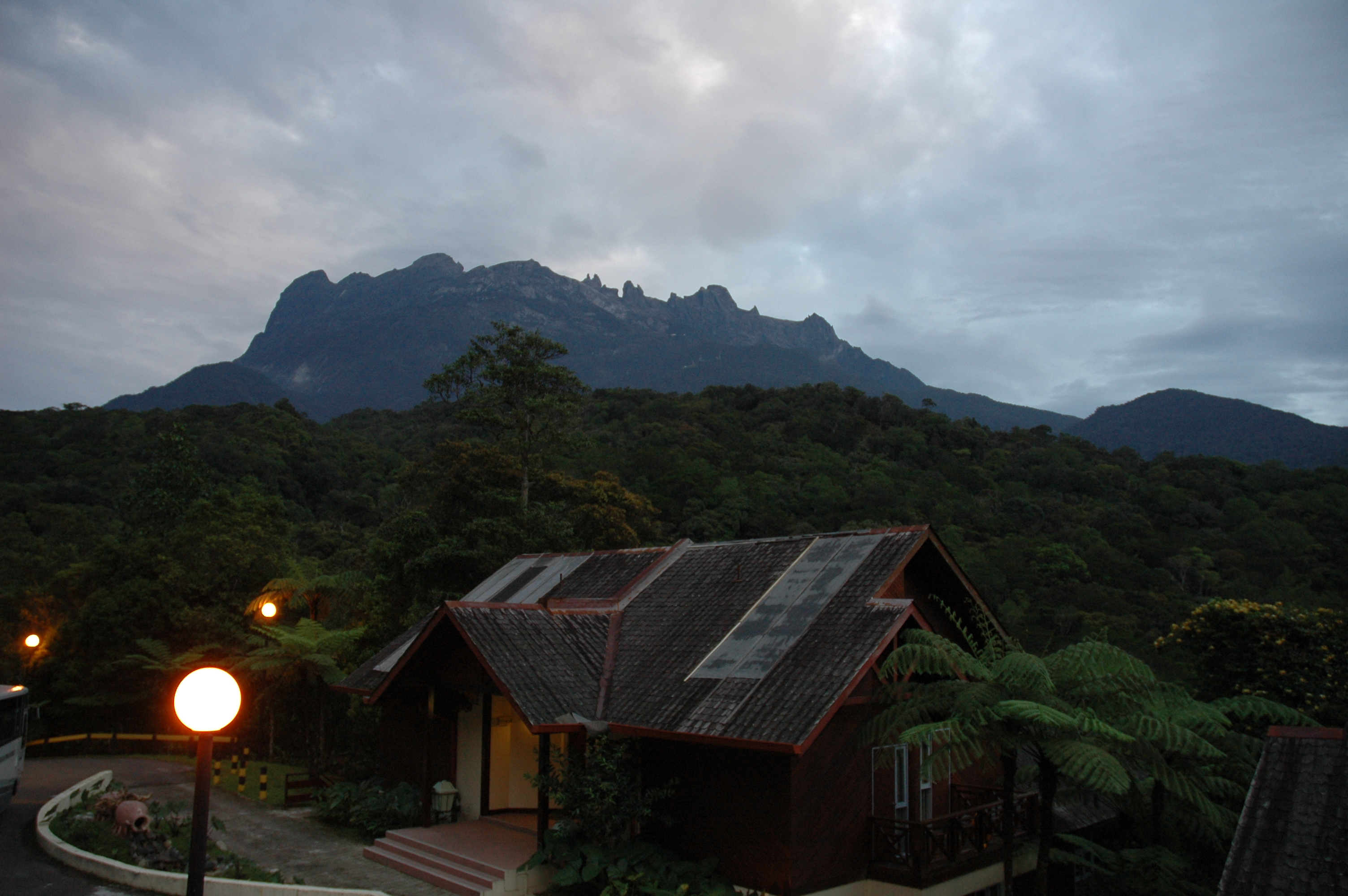 Mt Kinabalu View From Nepenthese Lodge at Kinabalu Park
