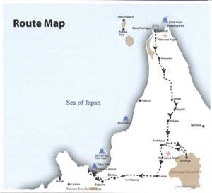 Let's Drive in Wakkanai in Autumn map