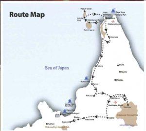 Let's Drive in Wakkanai Summer Map