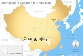 map of Zhangjiajie