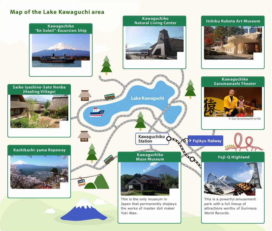 Lake Kawaguchi map-1