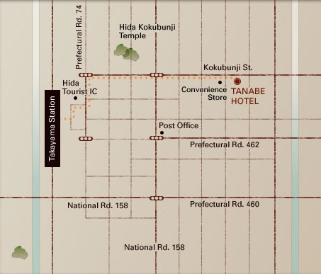 Tanabe Ryokan Map